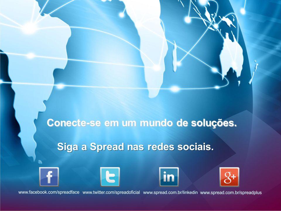 Conecte-se em um mundo de soluções. Siga a Spread nas redes sociais.