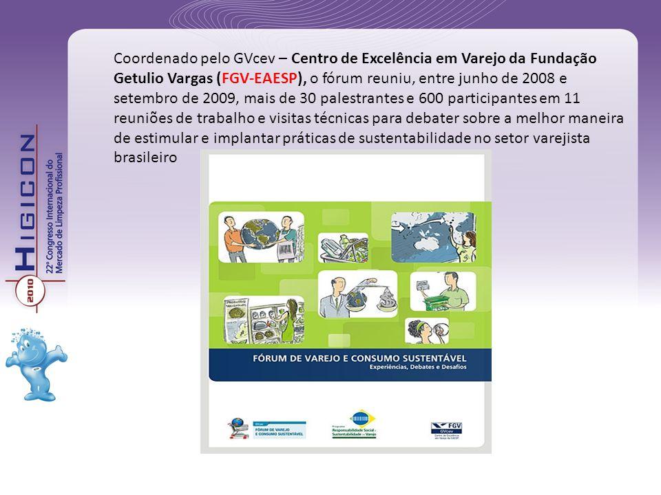 Coordenado pelo GVcev – Centro de Excelência em Varejo da Fundação Getulio Vargas (FGV-EAESP), o fórum reuniu, entre junho de 2008 e setembro de 2009,