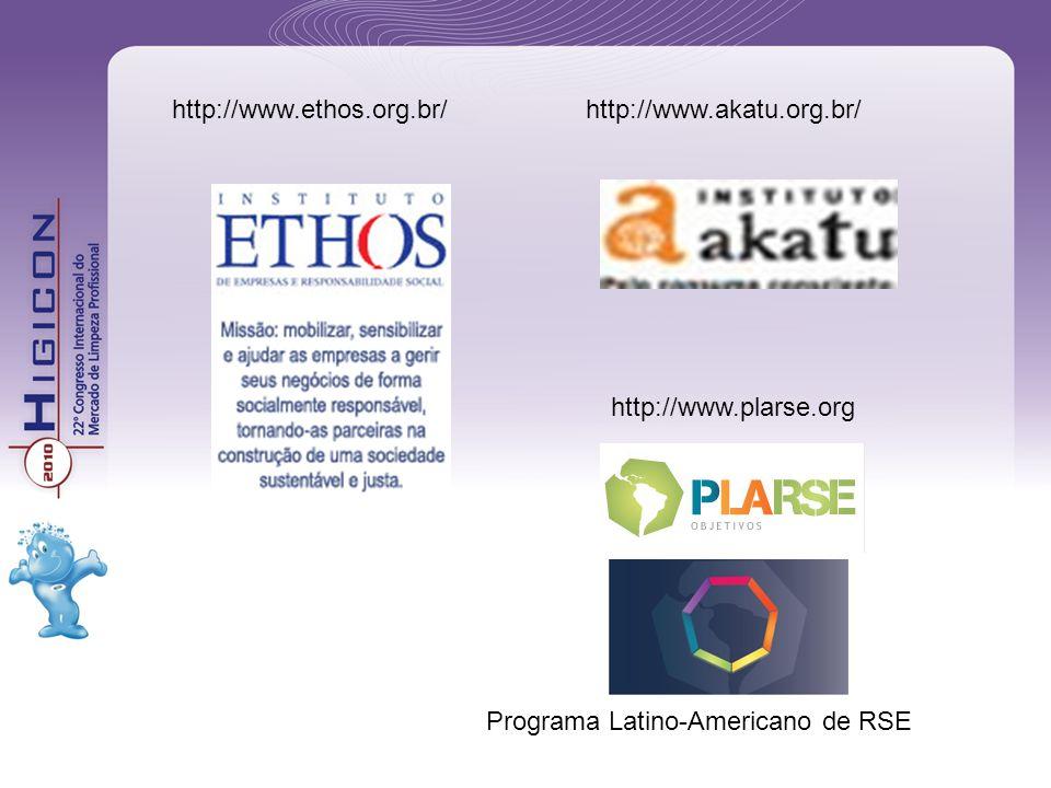 http://www.ethos.org.br/http://www.akatu.org.br/ Programa Latino-Americano de RSE http://www.plarse.org