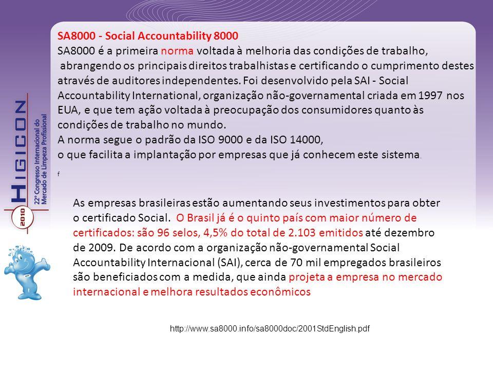 As empresas brasileiras estão aumentando seus investimentos para obter o certificado Social. O Brasil já é o quinto país com maior número de certifica