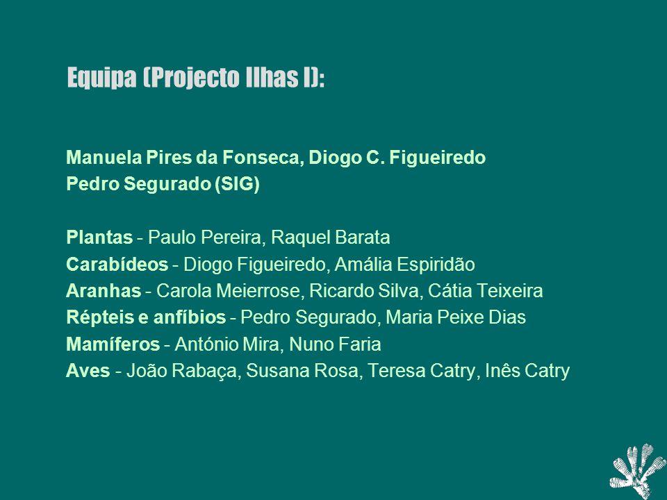 Equipa (Projecto Ilhas I): Manuela Pires da Fonseca, Diogo C.