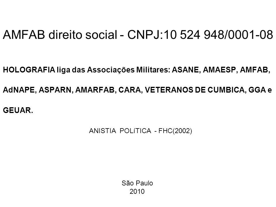 São Paulo, 9 de abril de 2010 Diretor Presidente Phh Ms Franklin da Silva Bernardes amfab.direitosocial @gmail.com