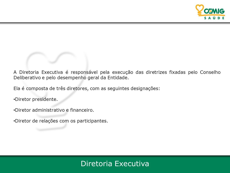 A Diretoria Executiva é responsável pela execução das diretrizes fixadas pelo Conselho Deliberativo e pelo desempenho geral da Entidade.