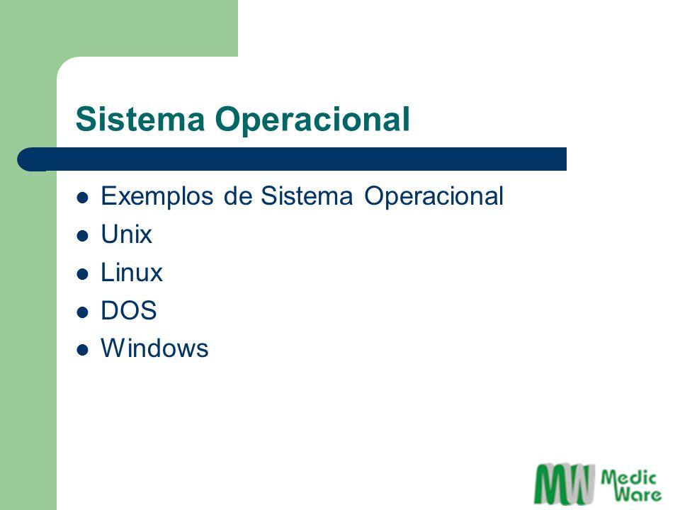 Exemplos de Sistema Operacional Unix Linux DOS Windows
