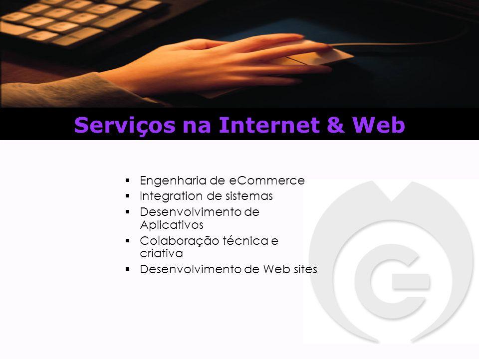 Serviços na Internet & Web  Engenharia de eCommerce  Integration de sistemas  Desenvolvimento de Aplicativos  Colaboração técnica e criativa  Desenvolvimento de Web sites