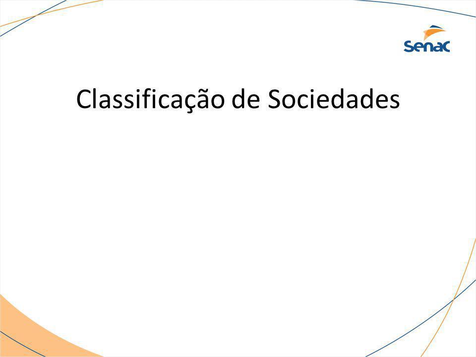 Classificação de Sociedades