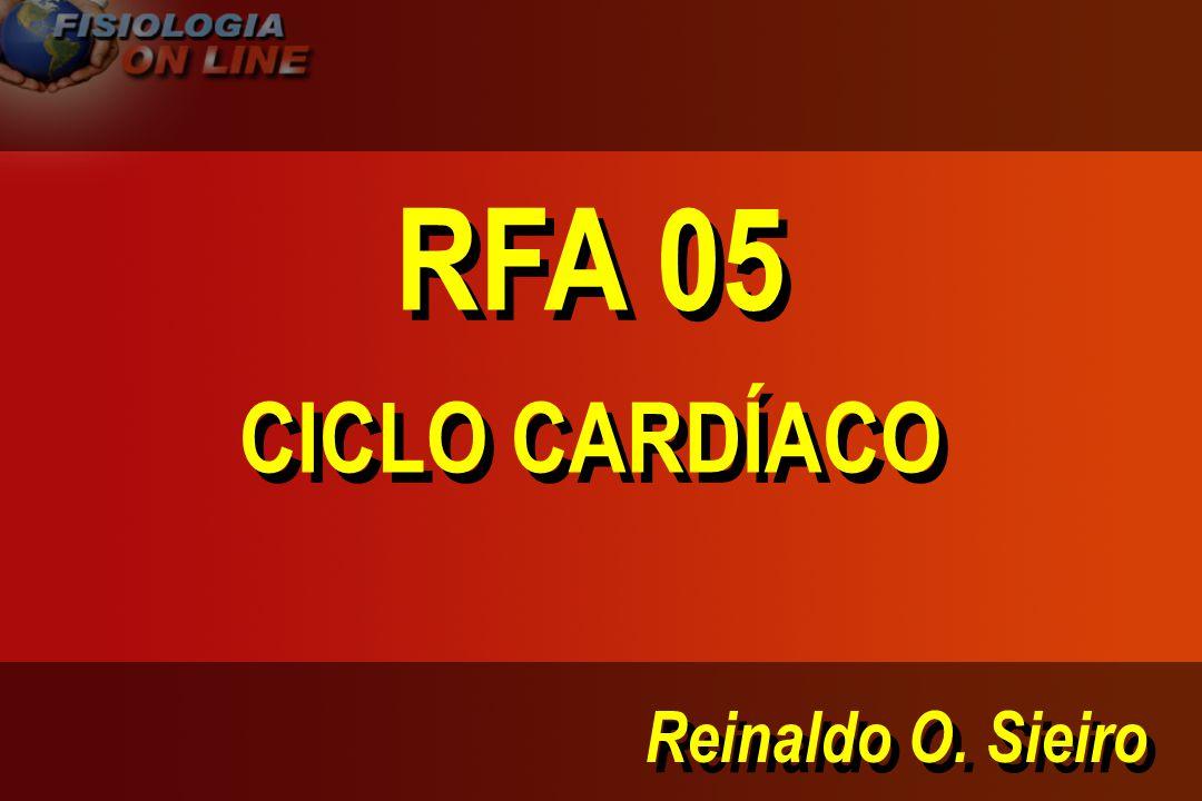 Reinaldo O. Sieiro RFA 05 CICLO CARDÍACO RFA 05 CICLO CARDÍACO
