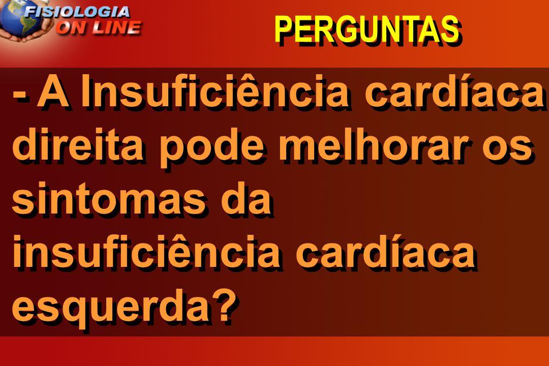PERGUNTAS - A Insuficiência cardíaca direita pode melhorar os sintomas da insuficiência cardíaca esquerda?