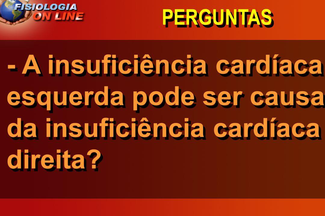 PERGUNTAS - A insuficiência cardíaca esquerda pode ser causa da insuficiência cardíaca direita?