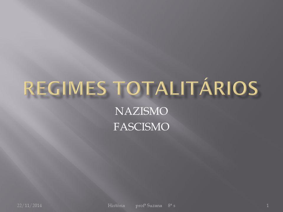 22/11/2014História profª Suzana 8ª s1 NAZISMO FASCISMO