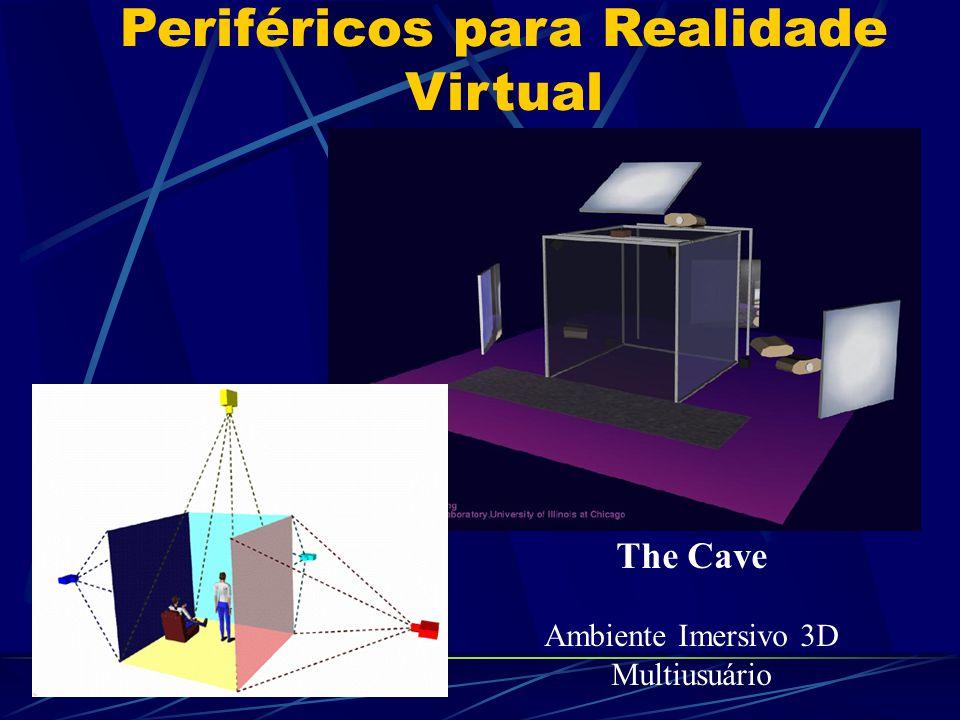 Periféricos para Realidade Virtual The Cave Ambiente Imersivo 3D Multiusuário