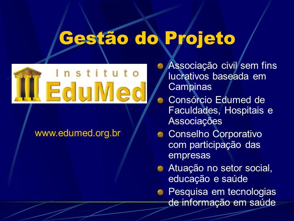 Gestão do Projeto Associação civil sem fins lucrativos baseada em Campinas Consórcio Edumed de Faculdades, Hospitais e Associações Conselho Corporativ