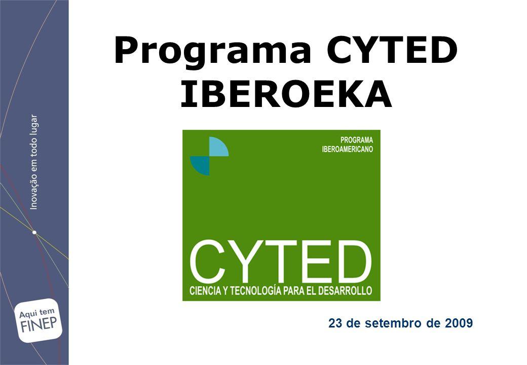 23 de setembro de 2009 Programa CYTED IBEROEKA
