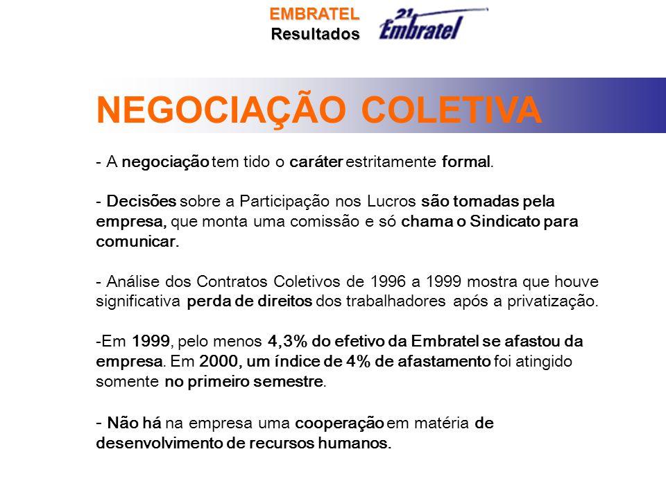 NEGOCIAÇÃO COLETIVA - A negociação tem tido o caráter estritamente formal.