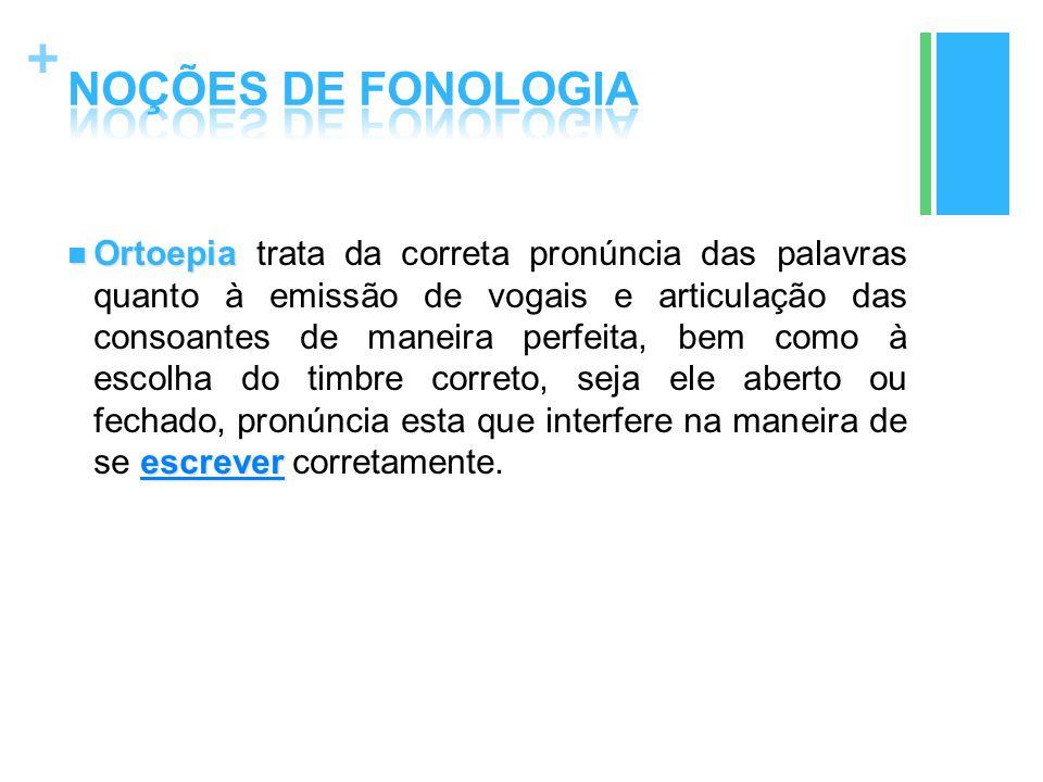 + Ortoepia escrever Ortoepia trata da correta pronúncia das palavras quanto à emissão de vogais e articulação das consoantes de maneira perfeita, bem
