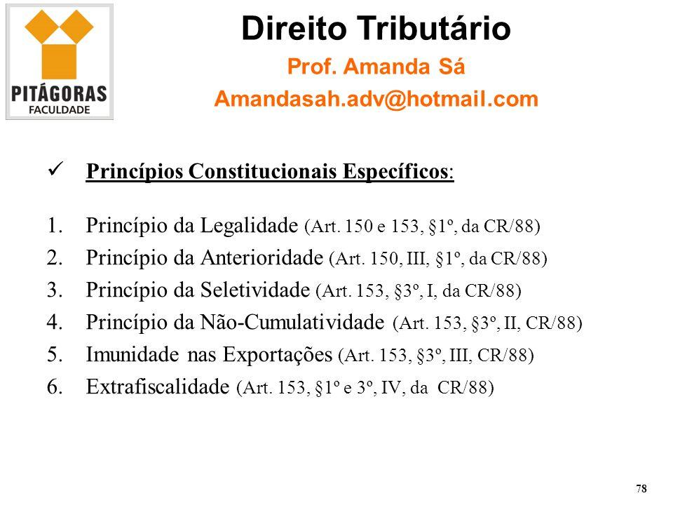 Princípios Constitucionais Específicos: 1.Princípio da Legalidade (Art.