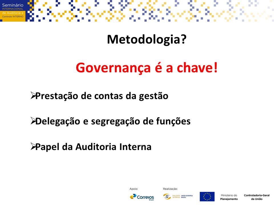 Metodologia. Governança é a chave.