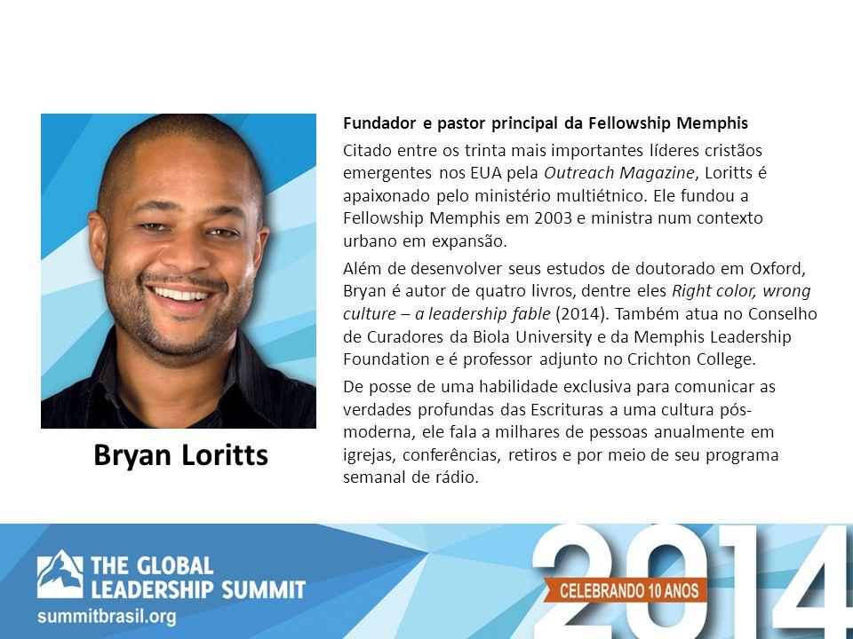 Fundador e pastor principal da Fellowship Memphis Citado entre os trinta mais importantes líderes cristãos emergentes nos EUA pela Outreach Magazine, Loritts é apaixonado pelo ministério multiétnico.