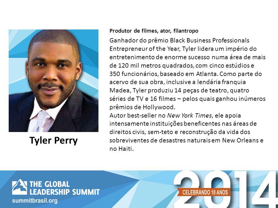 Ganhador do prêmio Black Business Professionals Entrepreneur of the Year, Tyler lidera um império do entretenimento de enorme sucesso numa área de mai
