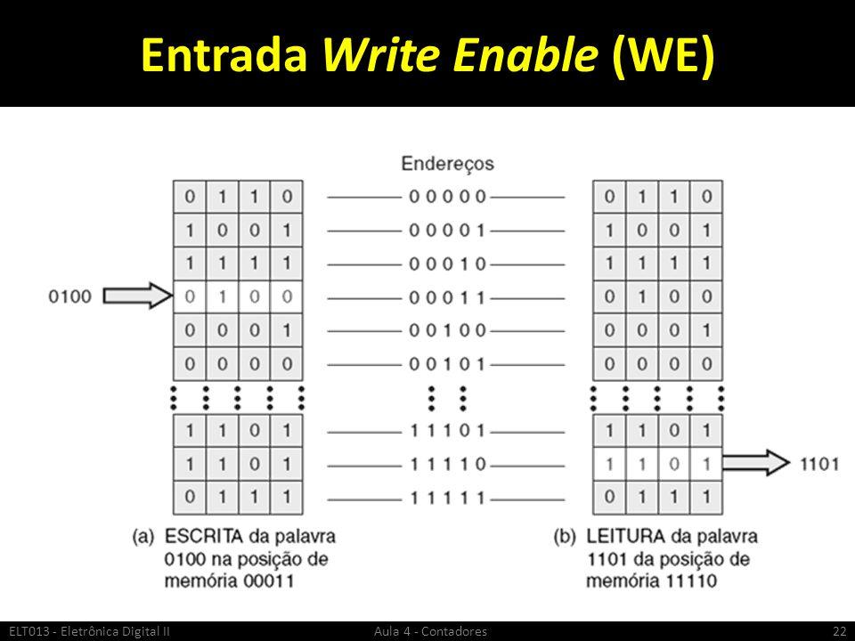 Entrada Write Enable (WE) ELT013 - Eletrônica Digital II Aula 4 - Contadores22