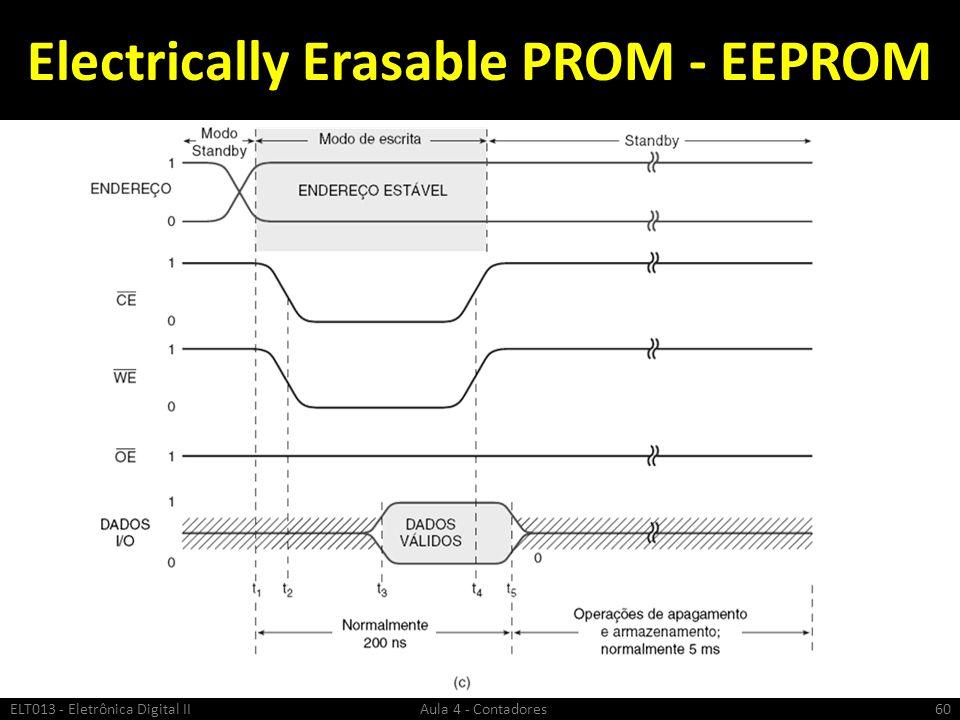 Electrically Erasable PROM - EEPROM ELT013 - Eletrônica Digital II Aula 4 - Contadores60