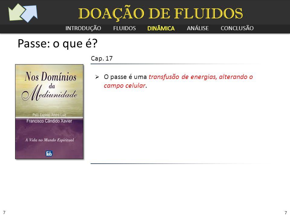 INTRODUÇÃO FLUIDOS DINÂMICA ANÁLISE CONCLUSÃO 8 8 Passe: o que é.