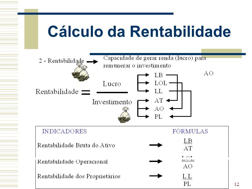 12 Cálculo da Rentabilidade
