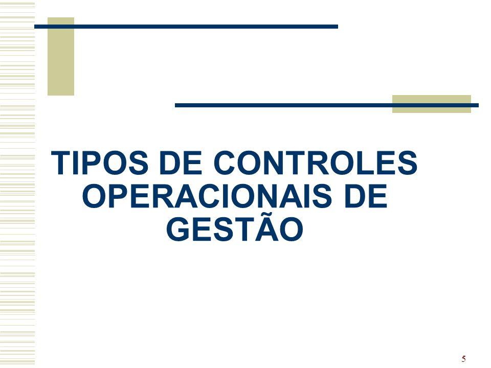 5 TIPOS DE CONTROLES OPERACIONAIS DE GESTÃO