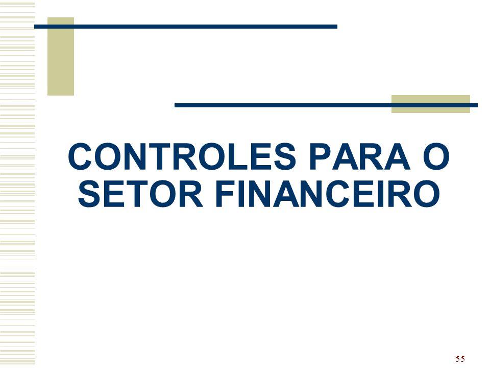 55 CONTROLES PARA O SETOR FINANCEIRO