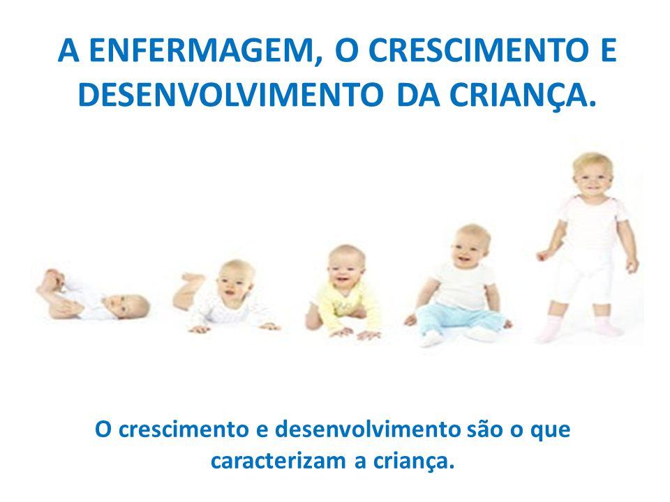 A ENFERMAGEM, O CRESCIMENTO E DESENVOLVIMENTO DA CRIANÇA. O crescimento e desenvolvimento são o que caracterizam a criança.