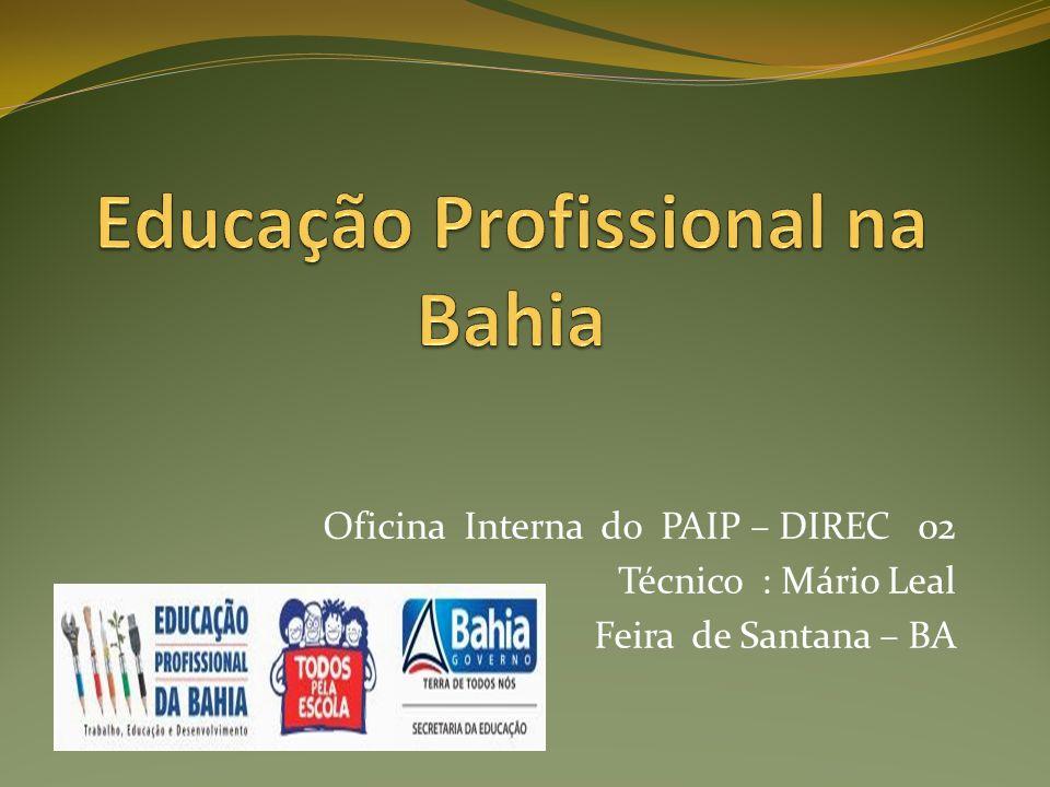 Princípios Formação Integral - A Educação Profissional é parte estratégica do desenvolvimento da Bahia, estando vinculada às demandas do desenvolvimento socioeconômico e ambiental nos Territórios de Identidade, cadeias produtivas e arranjos socioprodutivos locais.
