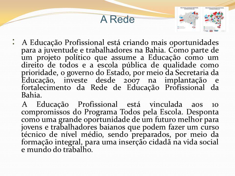 Territorialização A territorialização da Educação Profissional é uma estratégia de interiorização e inclusão dos estudantes e trabalhadores e faz parte da política de divisão territorial do Estado e do atendimento às demandas do Plano Plurianual Participativo.