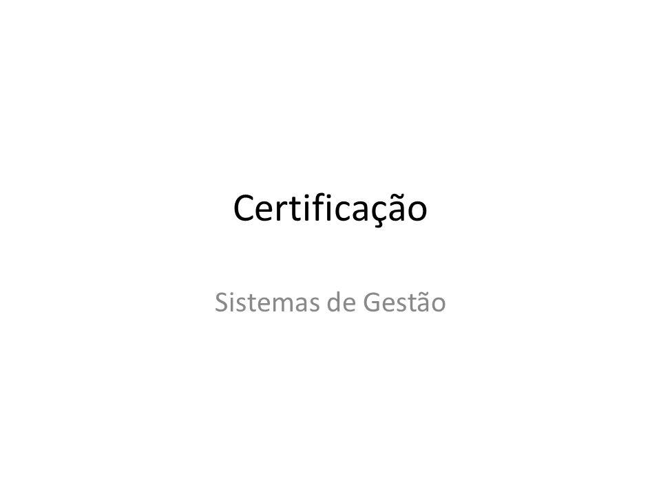ISO : Padronização Internacional 9000 : Sistema de Gestão da Qualidade (SGQ) 14000 : Sistema de Gestão Ambiental (SGA) 22000 : Gestão da Segurança Alimentar (FSM) 27000 : Sistema de Gestão da Segurança da Informação (SGSI)