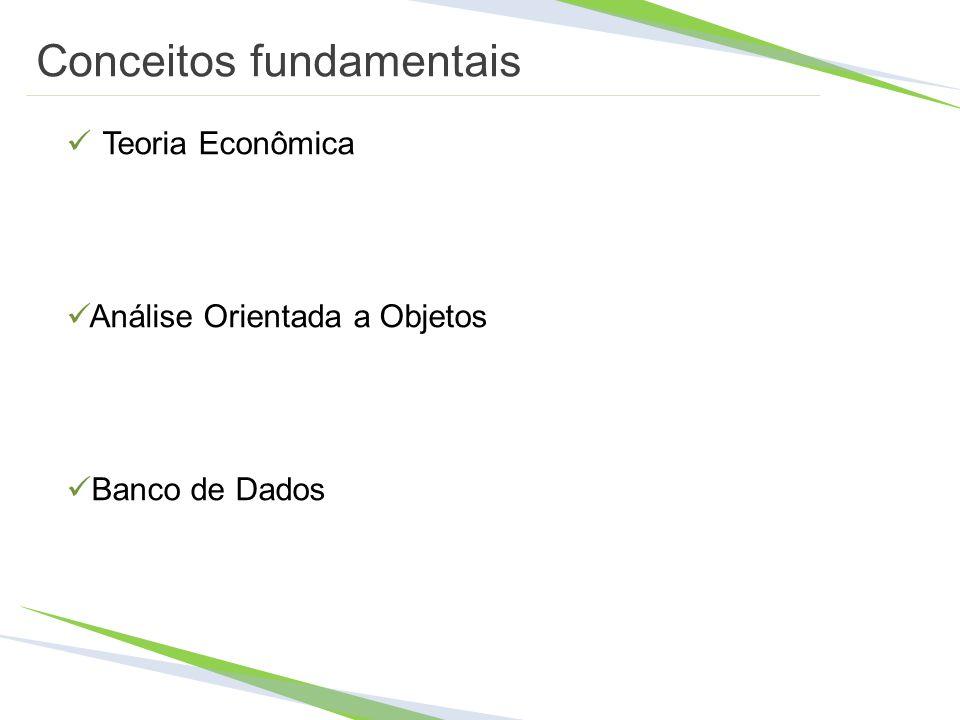 Conceitos fundamentais Teoria Econômica Análise Orientada a Objetos Banco de Dados