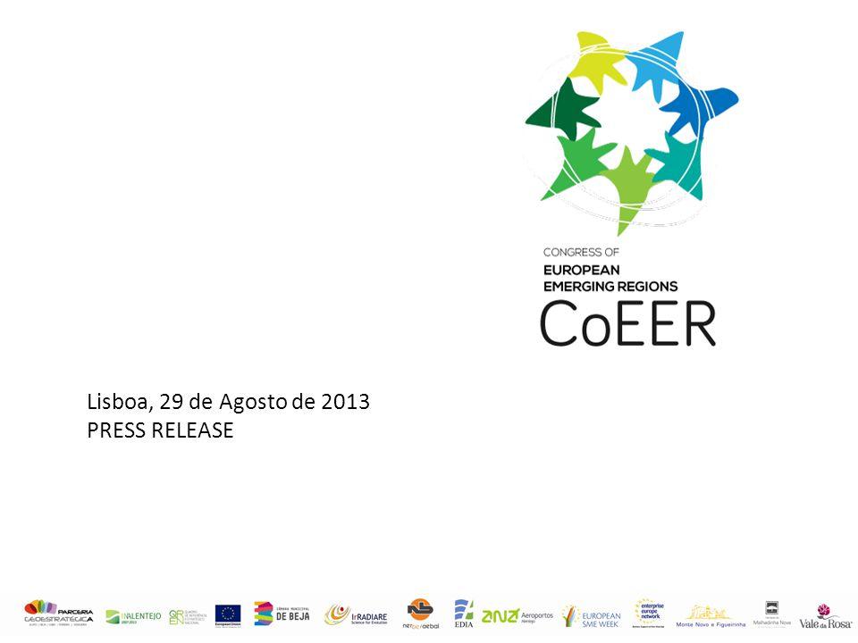 Lisboa, 29 de Agosto de 2013 PRESS RELEASE
