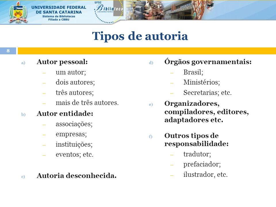 Documentos on-line b) Homepage (com notas ao final) UNIVERSIDADE FEDERAL DE SANTA CATARINA.