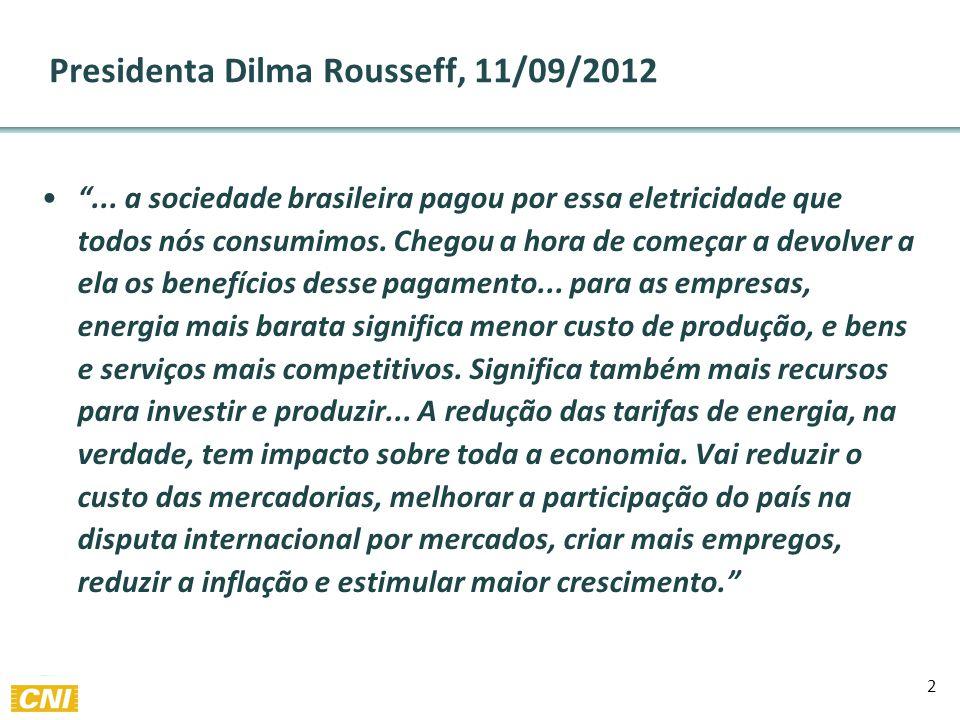 Presidenta Dilma Rousseff, 11/09/2012 ...