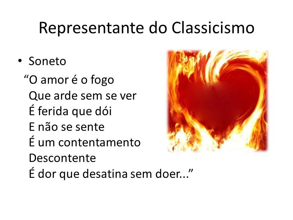 Autor representante do Classicismo Luis Vaz de CAMÕES