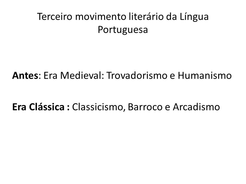 Marco inicial do período Século XV Retorno do poeta Sá de Miranda à Portugal – ele passou alguns anos na Itália, entrando em contato com as inovações Renascentistas.