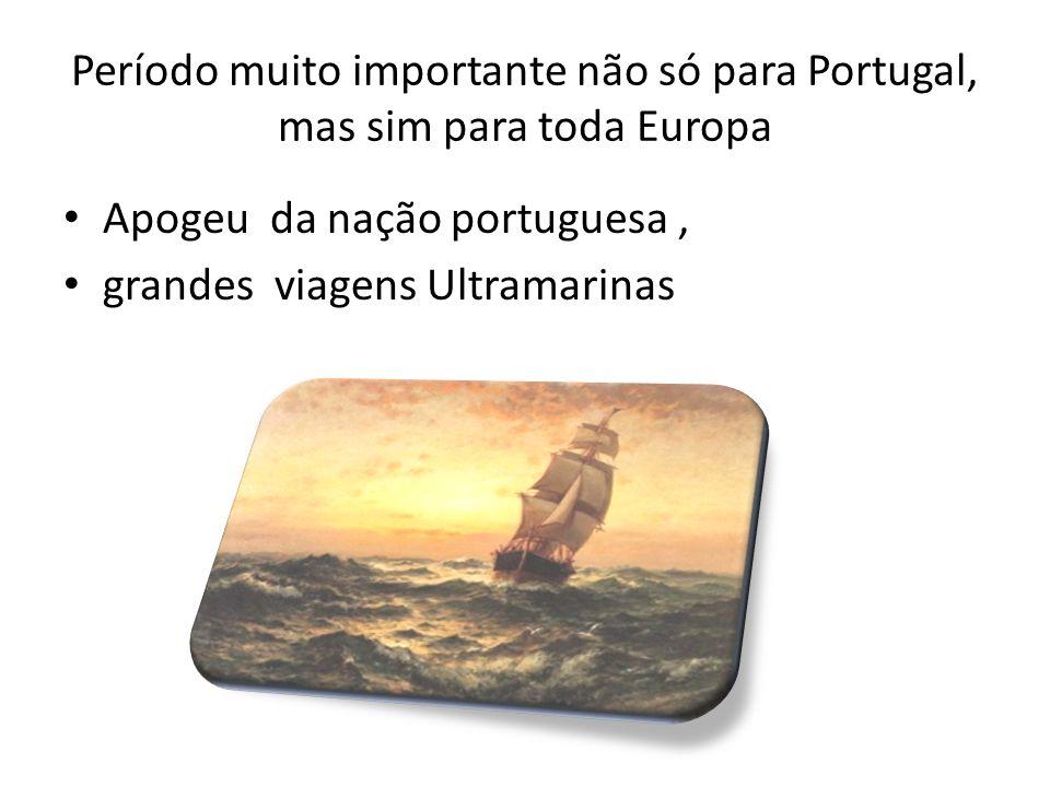 Símbolo deste período TORRE DE BELÉM - localiza-se na entrada de porto de Lisboa – e foi construída justamente nesta época, lá no século XVI, para simbolizar neste período as grandes navegações portuguesas