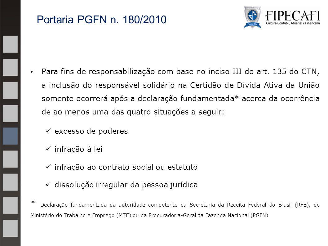 Para fins de responsabilização com base no inciso III do art. 135 do CTN, a inclusão do responsável solidário na Certidão de Dívida Ativa da União som