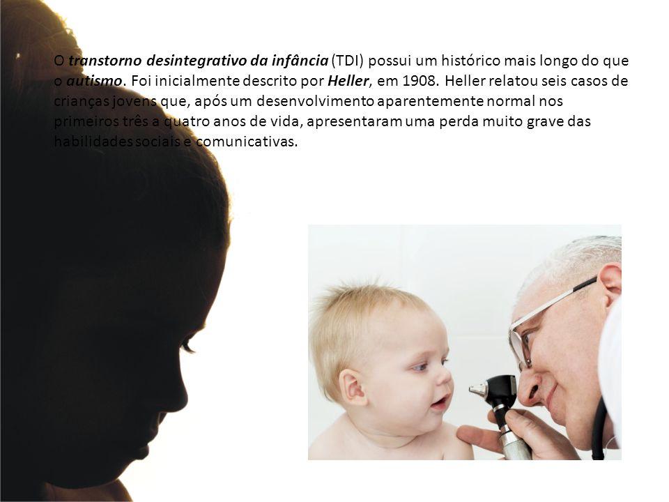 O transtorno desintegrativo da infância (TDI) possui um histórico mais longo do que o autismo. Foi inicialmente descrito por Heller, em 1908. Heller r