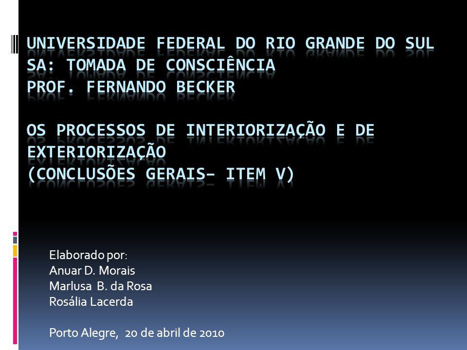 Elaborado por: Anuar D. Morais Marlusa B. da Rosa Rosália Lacerda Porto Alegre, 20 de abril de 2010