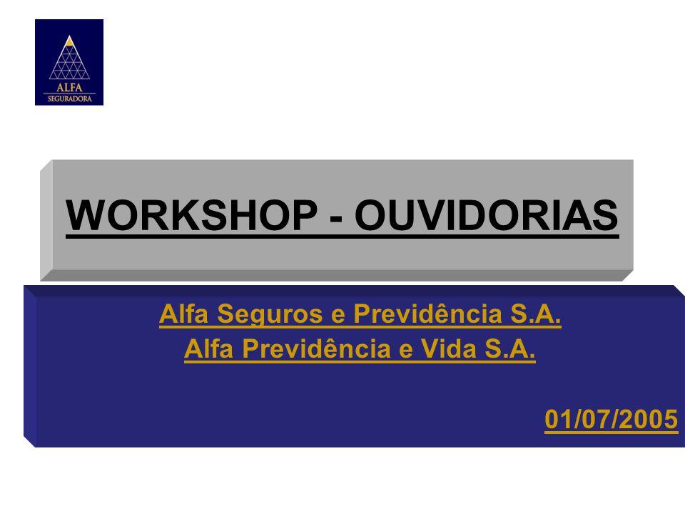 WORKSHOP - OUVIDORIAS Alfa Seguros e Previdência S.A. Alfa Previdência e Vida S.A. 01/07/2005