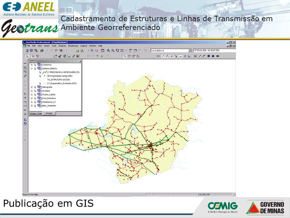 Cadastramento de Estruturas e Linhas de Transmissão em Ambiente Georreferenciado Publicação em GIS