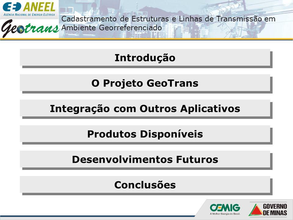 Cadastramento de Estruturas e Linhas de Transmissão em Ambiente Georreferenciado O Projeto GeoTrans 1999 2000 2001 2002 2003 2004 2005 2006 Levantamento em campo  Finalizado no primeiro trimestre de 2006