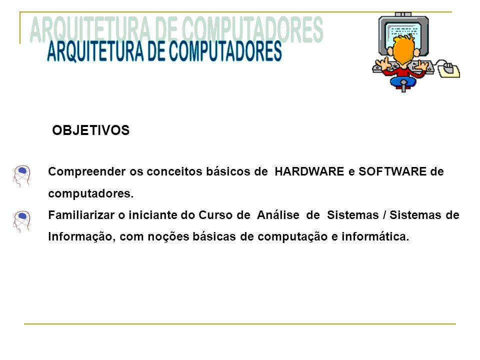 EMENTA História do Computador, Sistemas de Numeração, Noções sobre a organização dos computadores.