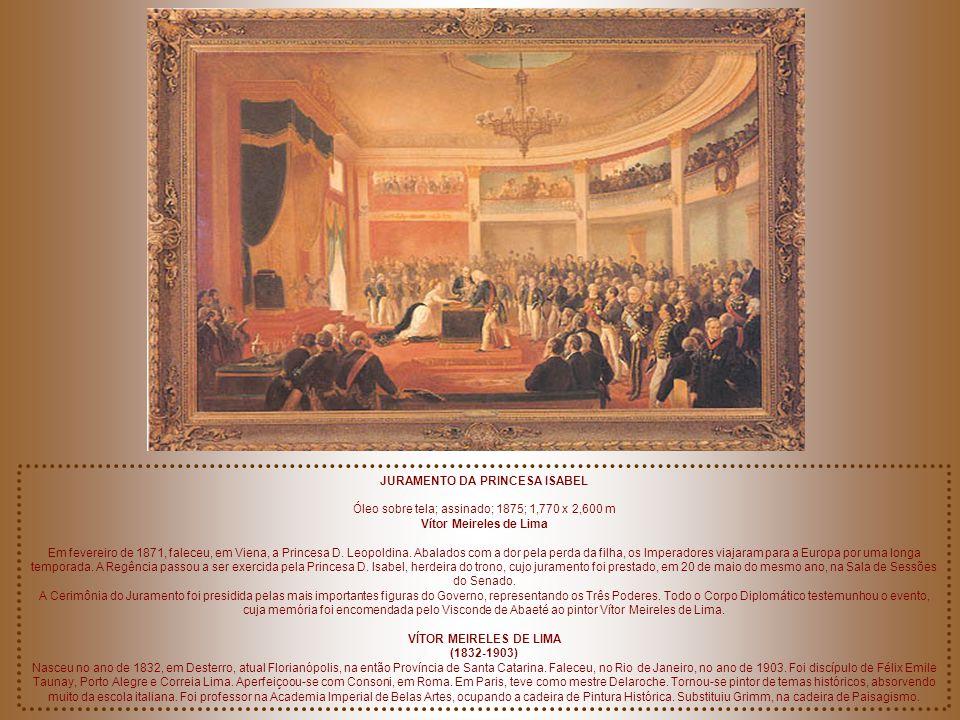 RETRATO DA PRINCESA ISABEL Óleo sobre tela; assinado; 1868; 630 X 0,510 m Edouard Vienot (1804-...) Na mesma época, e pelo mesmo pintor, foram executa