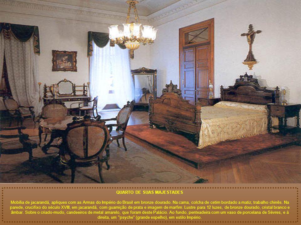 SALA DE ESTADO (detalhe) A Sala de Estado, como era chamada na época, era a sala mais importante do Palácio. Por ocasião da montagem do Museu, nela fo