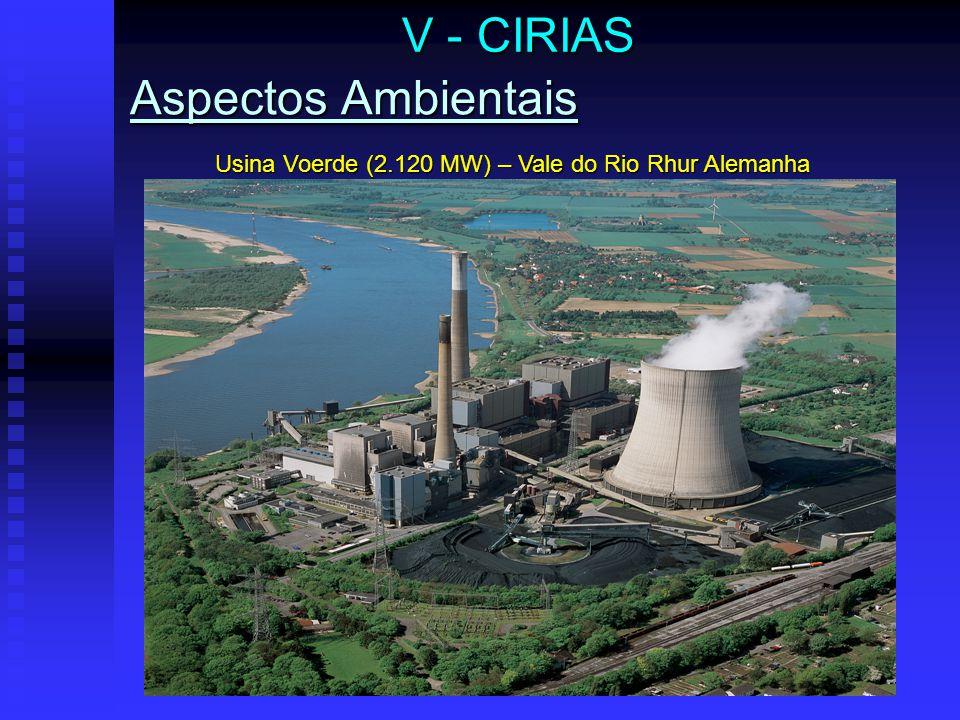 V - CIRIAS Usina Voerde (2.120 MW) – Vale do Rio Rhur Alemanha